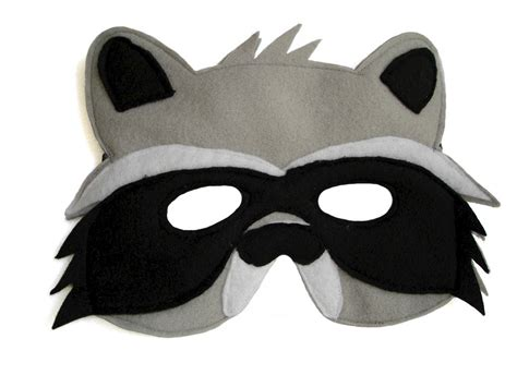 printable raccoon mask template children s woodland animal raccoon felt mask magical attic
