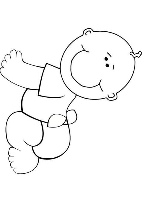 easy baby coloring pages cute and latest baby coloring pages