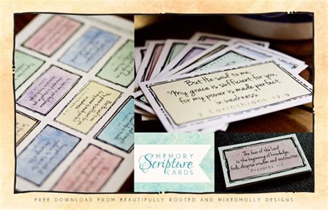 Bible Memory Verse Card Template by Free Scripture Memory Cards Printables 24 7