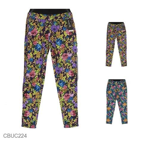 Celana Kulot Katun Stretch Motif Batik 013 celana stretch motif bunga pelangi bawahan rok murah batikunik