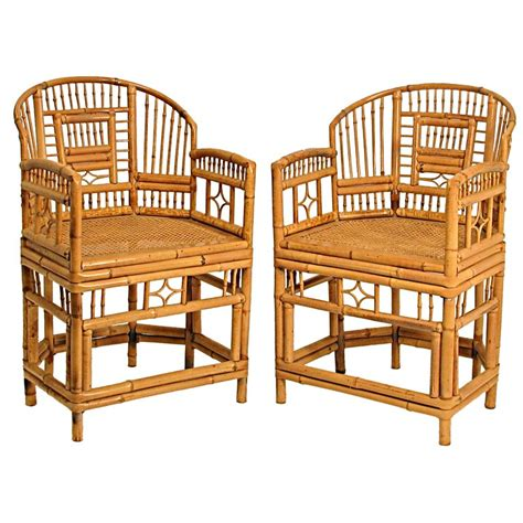 bamboo chair pair of chinese bamboo chairs at 1stdibs