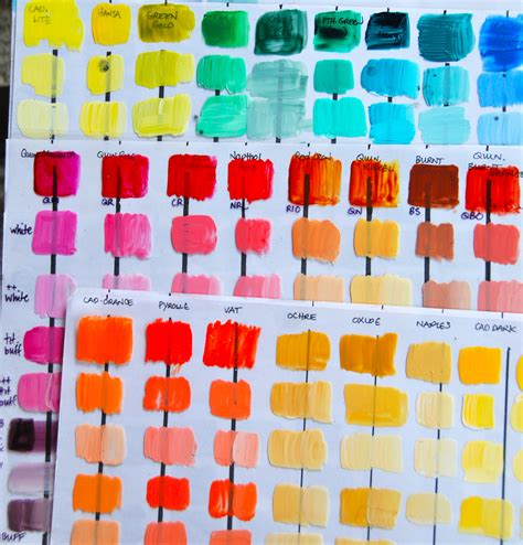 paint colors acrylic color mixing