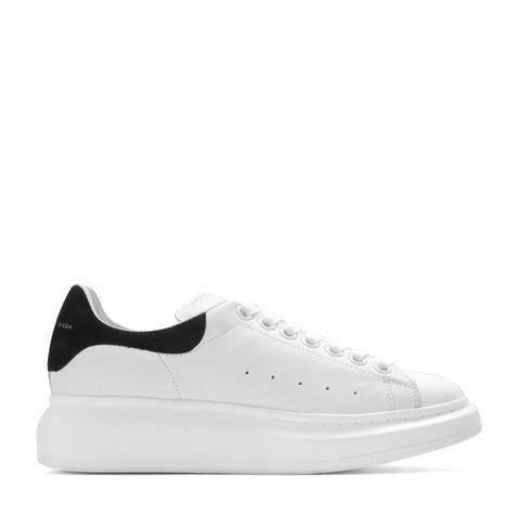 mcqueen sneakers lyst mcqueen leather sneakers in white