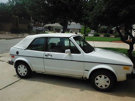sell used 1986 volkswagen cabriolet base convertible 2 door 1 8l in oklahoma city oklahoma