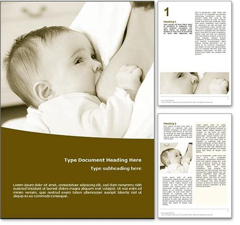 breastfeeding brochure templates all templates deal