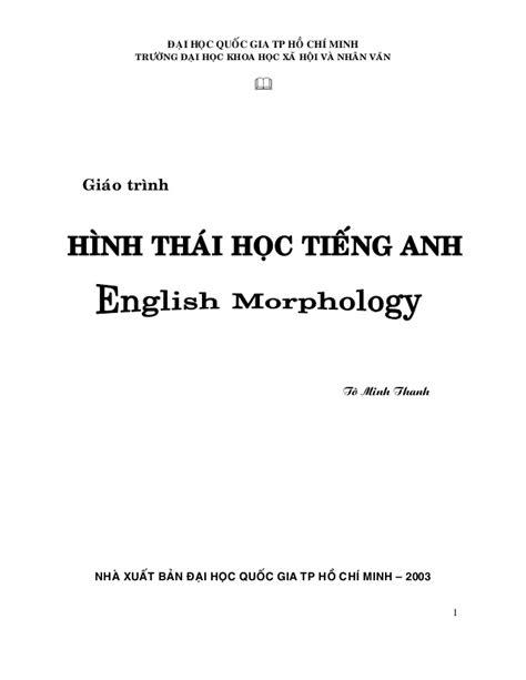 morphology morpheme allomorph view image morphology by to minh thanh