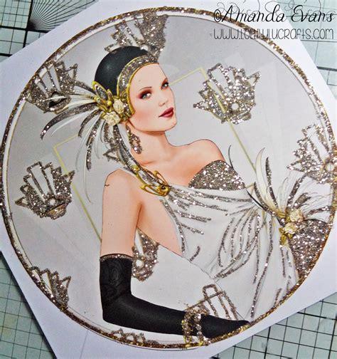 art deco lady l debbi moore art deco lady circle card lolli lulu crafts