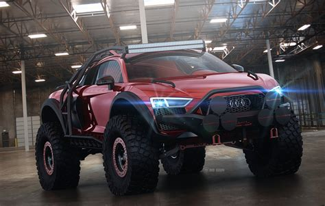 supercar suv audi r8 supercar transformed into a monstrous off roader