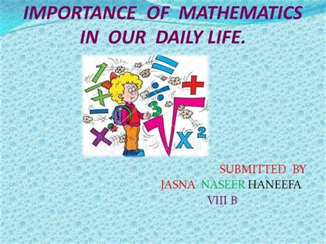 essay on mathematics in our daily life sample letters for