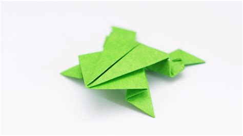 Paper Frogs Origami - origami frog traditional model