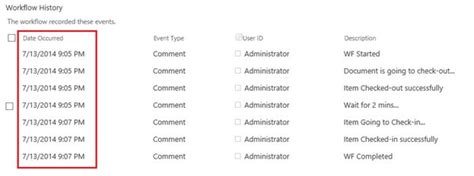workflow history list checkout and check in activity in sharepoint 2013 workflows