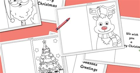 christmas coloring cards messy  monster