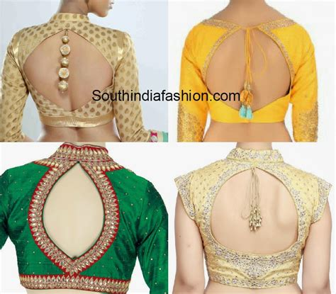 Cut Out Back Neck Blouse Designs South India Fashion Neck Back Designs For