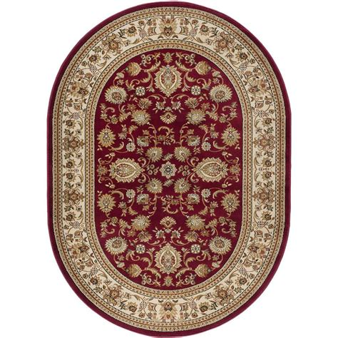 7 x 9 oval area rugs tayse rugs sensation 6 ft 7 in x 9 ft 6 in traditional oval area rug 4720 7x10 oval