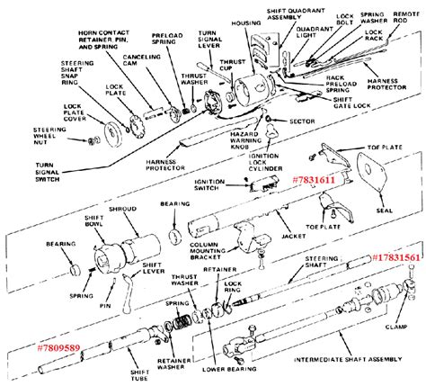 1972 chevy truck steering column diagram free