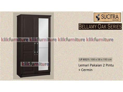 Lemari Pakaian Minimalis 2pintu Sucitra Lp 1522 lp 8521 bellamy sucitra lemari 2 pintu oak agen paling murah