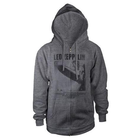 Hoodie Led Zeppelin led zeppelin uk tour 1969 grey zip hoodie