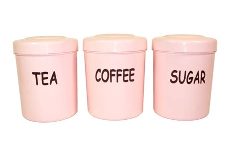 pink kitchen storage accessories pink plastic canisters ebay