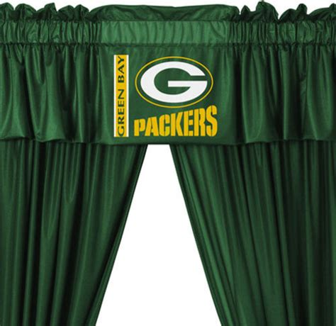 packers curtains nfl green bay packers football 5 piece valance curtains