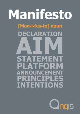 design manifesto definition the interesting thing about manifesto s