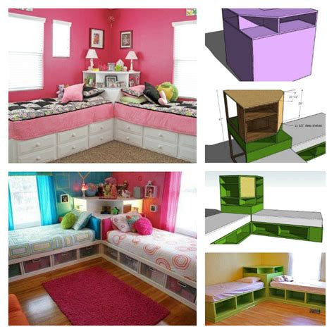 simple under bed storage budget ideas for childrens diy corner unit for the twin storage bed space saving idea
