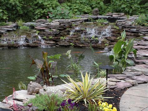 backyard koi pond for the home