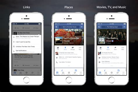 faceb mobile how to save links places and on heavy