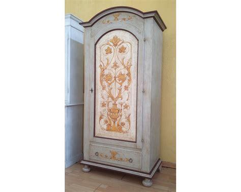 armadio decorato armadio legno 1 anta finemente decorato a mano