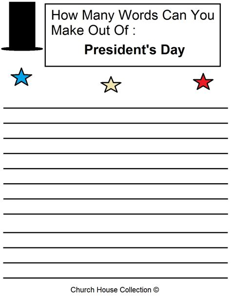 Best 20 S Day Out - president s day worksheet