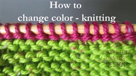 changing colors in knitting how to change color knitting