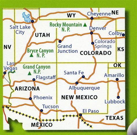map of new mexico and colorado 175 southern rockies arizona colorado new mexico utah