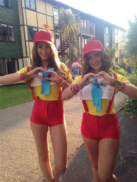 In Handmade Costume - tweedle and tweedle dum disney fancy dress hen do