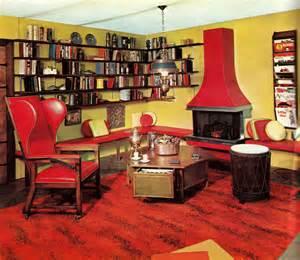 retro home interiors retro interior in home library idea decosee