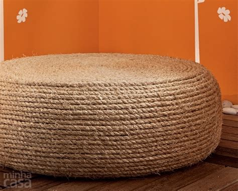 tire rope ottoman make a recycled tire rope ottoman 187 dollar store crafts