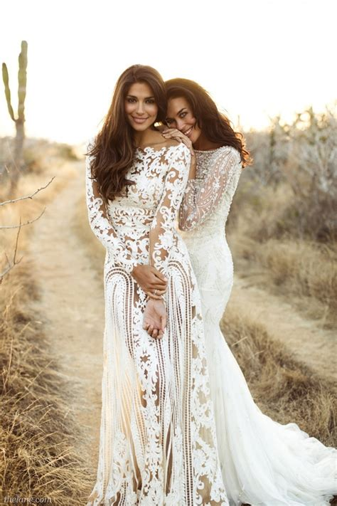 Top 10 wedding dresses with long sleeves designers mydreamweddingday