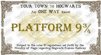 hogwarts express train ticket personalized in 2 sizes