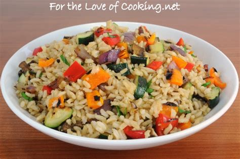 vegetables and rice brown rice with grilled vegetables for the of cooking