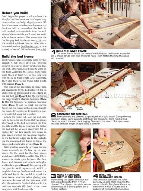 build murphy bed woodarchivist
