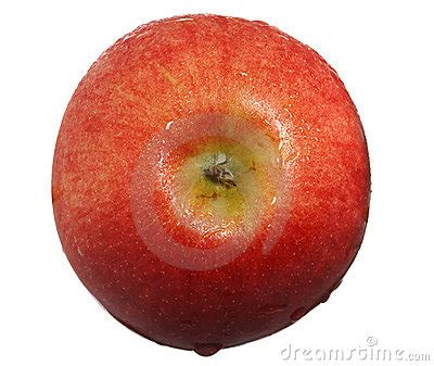 Apple Top apple with drops of water top view royalty free stock