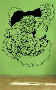 Hulk Wall Stickers Blasting Hulk Wall Art Sticker Retro Comic Vinyl Mural
