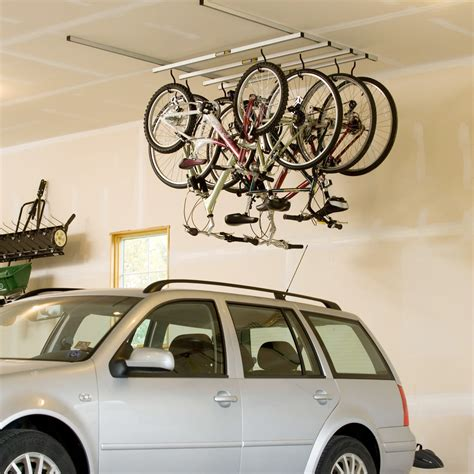 Garage Ceiling Bike Storage Ideas Cycle Glide Bicycle Storage System Saris