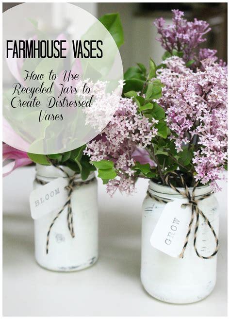 create   diy farmhouse vases white cottage home
