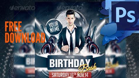 dj flyer template 11572206 187 free download photoshop pin birthday bash flyer download on pinterest