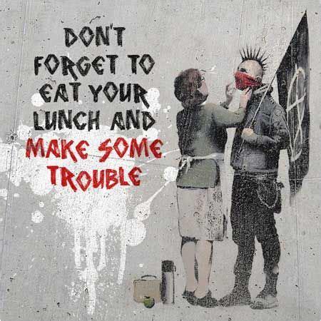 banksy dont forget  scarf punk graffiti bristol