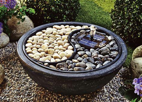 solar brunnen yin yang gartenbrunnen springbrunnen