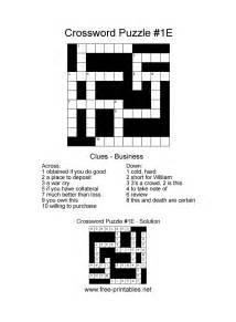 easy printable crosswords free printable crossword puzzles