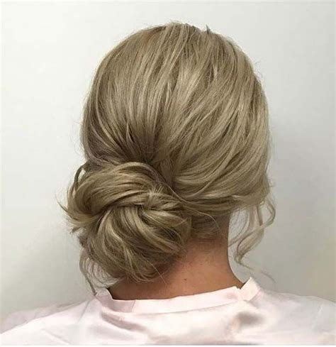 Low Side Bun Hairstyles by Low Side Bun For Prom Updo Idea Medium Hair
