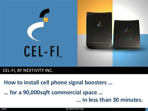 how to install a cell phone signal booster for a 90