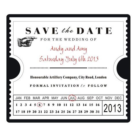 wedding invites ticket stubs save the date ticket stub