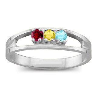 s birthstone split shank ring 1 6 stones